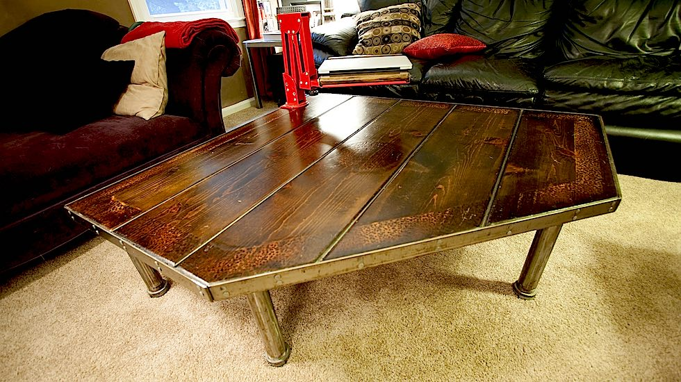 5 sided coffee table paul spinak